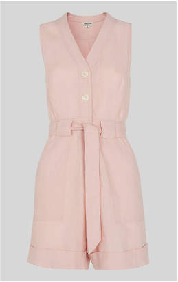 Whistles Linen Button Detail Playsuit