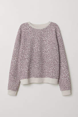 H&M Sweatshirt with Printed Design - Beige