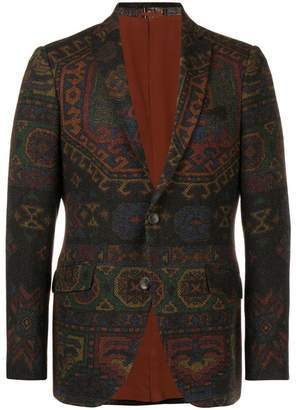 Etro patterned button blazer