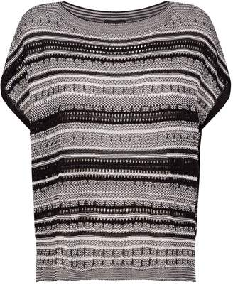 Eileen Fisher Striped Knitted Top