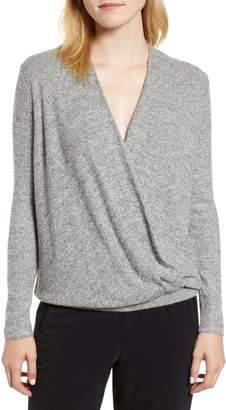 Lou & Grey Soft Rib Wrap Top