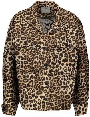 Anine Bing Flynn leopard jacket