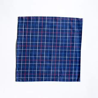 Blade + Blue Navy, Red & White Plaid Brushed Cotton Pocket Square