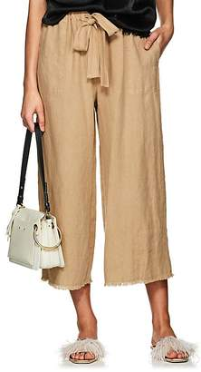 Raquel Allegra Women's Washed Linen Crop Pants