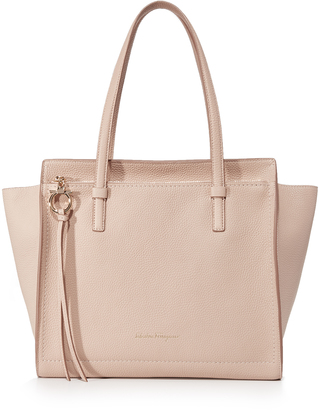 Salvatore Ferragamo Amy Medium Tote $1,250 thestylecure.com