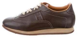 Hermes Quick Leather Sneakers