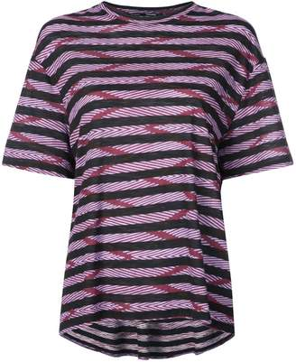 Proenza Schouler Chevron Stripe Short Sleeve T-Shirt