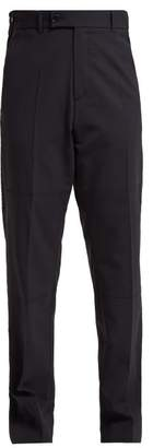 Martine Rose High Rise Straight Leg Panelled Trousers - Womens - Navy