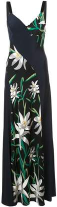 Diane von Furstenberg printed floor length dress
