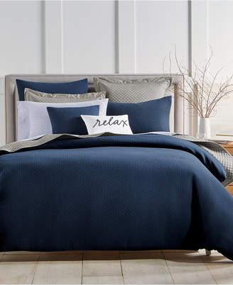 Charter Club Damask Designs Diamond Dot 300-Thread Count 3-Pc. Full/Queen Comforter Set