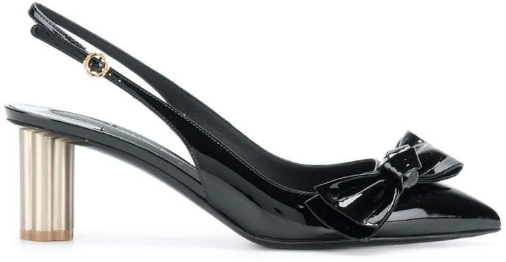 Salvatore Ferragamo bow-embellished pumps