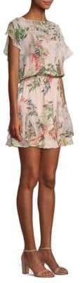 Parker Acadia Silk-Blend Popover Dress