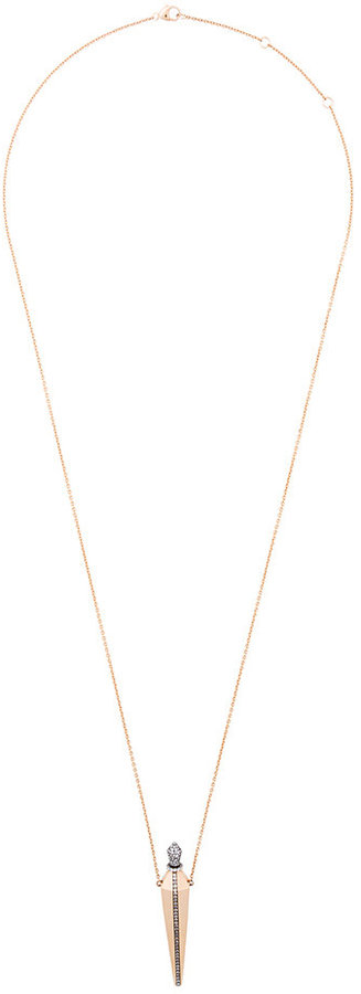 Diane Kordas diamond line amulette necklace