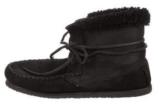 Etoile Isabel Marant Shearling-Trimmed Ankle Boots