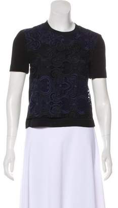 A.L.C. Silk Embroidered Top