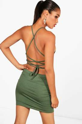 boohoo Strappy Back Mini Dress
