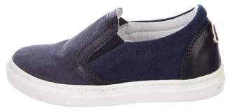 Moncler Boys' Suede Slip-On Sneakers
