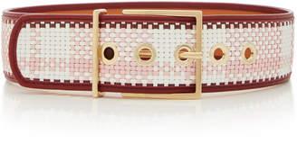 MAISON BOINET Exclusive Plaid Waist Belt