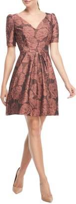 Gal Meets Glam Ingrid Jacquard Fit & Flare Dress
