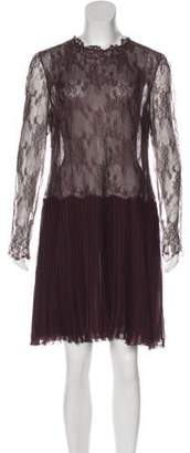 Valentino Lace Pleated Dress