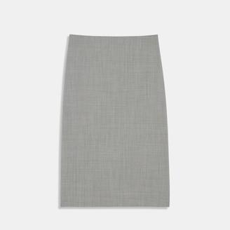Houndstooth Good Wool Skinny Pencil Skirt