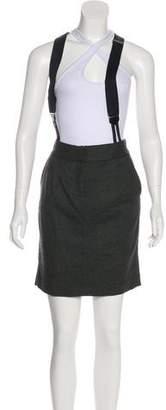 Elizabeth and James Suspender-Accented Mini Skirt