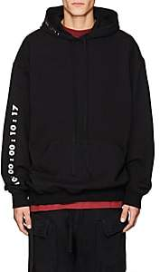 Taverniti So Ben Unravel Project BEN UNRAVEL PROJECT MEN'S LOGO COTTON OVERSIZED HOODIE