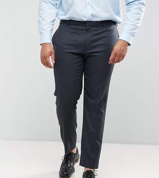 Asos DESIGN PLUS Wedding Skinny Suit PANTS in Blue Micro Woven Texture