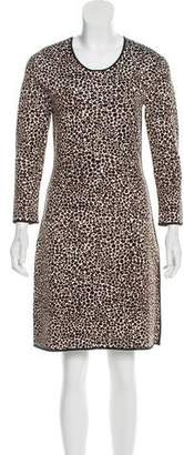 Burberry Cheetah Printed Bodycon Dress w/ Tags