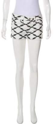 Isabel Marant Denim Printed Shorts