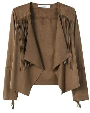 MANGO Fringed jacket