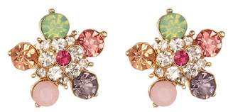 Joe Fresh Round-Cut Multi-Color Flower Stud Earrings