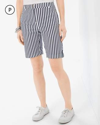 Comfort Waist Petite Luxe Utility Striped Shorts