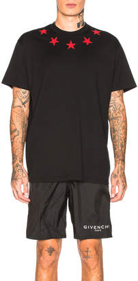 Givenchy Star Collar Tee in Black | FWRD