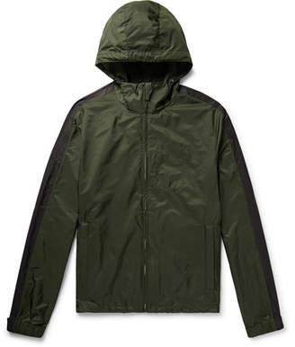 Prada Striped Shell Hooded Jacket