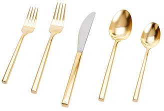 Pottery Barn Luna Brushed Gold Flatware Set
