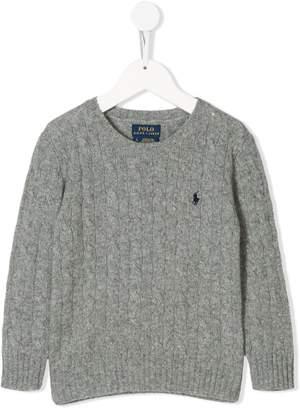 Ralph Lauren logo cable-knit sweater