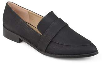 76756387880 Womens Faux Leather Almond Toe Classic Loafers
