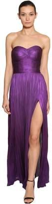 Maria Lucia Hohan Metallic Silk Tulle Gown Dress