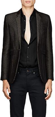 Saint Laurent Men's Velvet One-Button Sportcoat - Black
