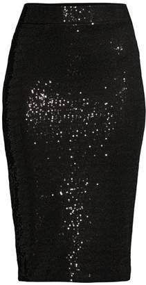 Donna Karan Sequin Pencil Skirt