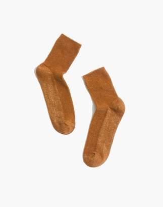 Madewell Night Sparkle Ribbed Ankle Socks