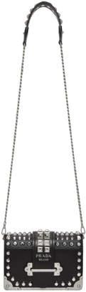 Prada Black Small Studded Cahier Bag