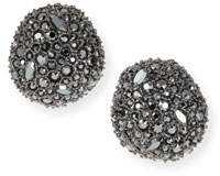 Alexis Bittar Organic Pod-Shaped Crystal Encrusted Button Earrings