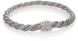 John Hardy Women's Classic Chain Diamond & Sterling Silver Extra-Small Twisted Bracelet