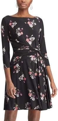 Chaps Women's Floral Fit & Flare Dress