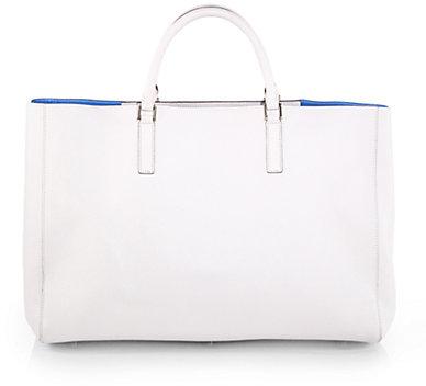 Anya Hindmarch Ebury Featherweight Leather Top-Handle Bag