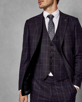 Ted Baker AFANAW Checked wool waistcoat