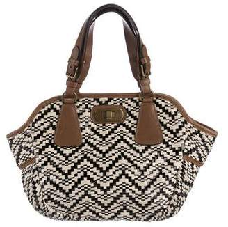 Marni Woven Leather-Trimmed Tote