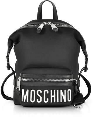 Moschino Black Neoprene Signature Backpack